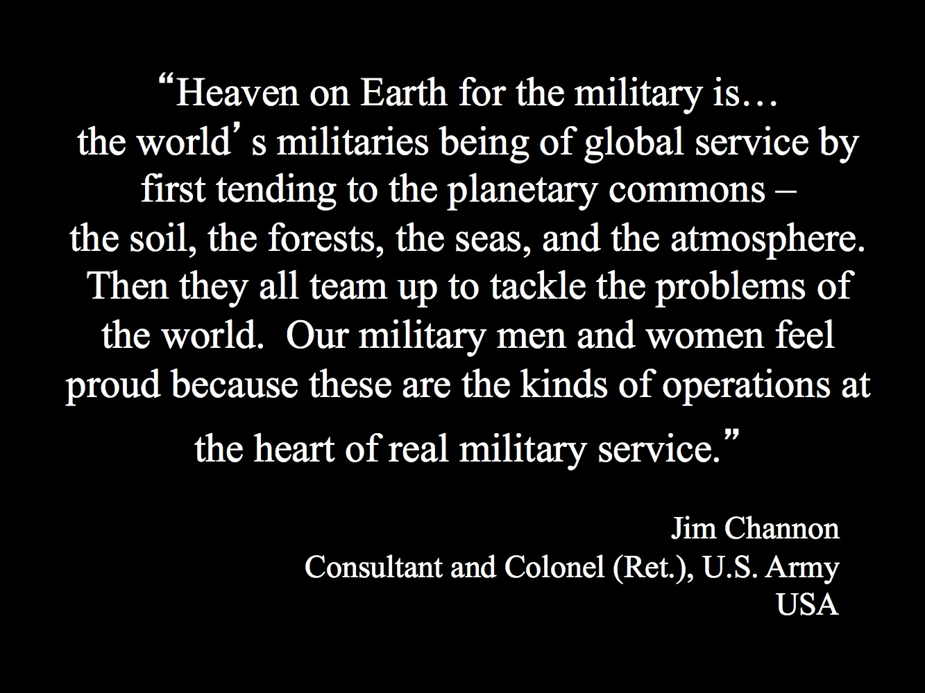 Heaven On Earth For The Military