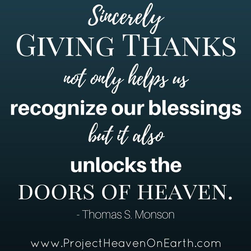 Giving Thanks & Heaven On Earth
